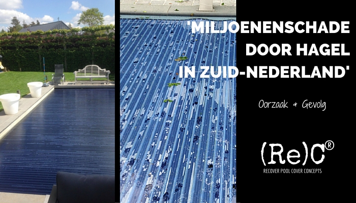 Miljoenenschade door hagel in Zuid-Nederland