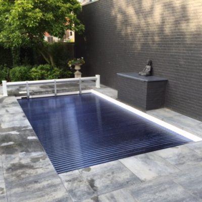 Polycarbonaat+solar+zwembad+lamellen